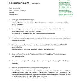 Leistungserklärung Bauholz