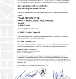 CE Certification for structural timber